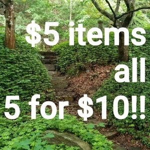 $5 items 5 for $10